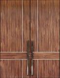 门高雅现代木头 库存照片
