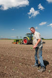 εργασία πεδίων αγροτών Στοκ Φωτογραφία