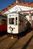 трам депо старый Стоковая Фотография