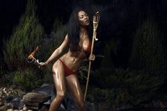 艺术美丽的好照片妇女 免版税图库摄影