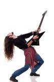 吉他弹奏者重金属 免版税库存照片