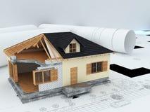 建筑师房子设计 图库摄影