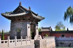 传统中国庭院的寺庙 免版税图库摄影