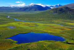 гора Норвегия ландшафта рисуночная Стоковое фото RF