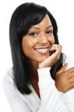 微笑的妇女年轻人 免版税图库摄影