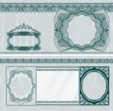 钞票空白格式 免版税图库摄影