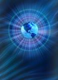 背景二进制蓝色世界 免版税库存照片