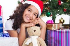 青少年的圣诞节 免版税图库摄影