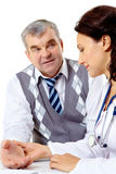 пациент врача-клинициста Стоковые Фотографии RF