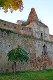 古老城堡庭院 免版税库存图片