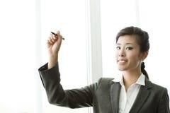 女实业家中国复制空间文字 免版税库存照片