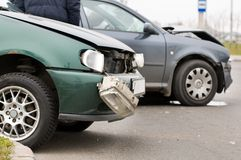 автокатастрофа аварии Стоковые Фотографии RF