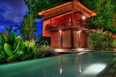 巴厘岛维拉 免版税图库摄影