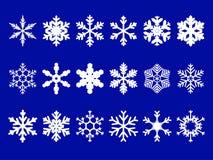 установите вектор снежинок Стоковые Фотографии RF