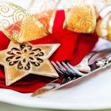圣诞节设置表 免版税库存图片