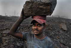 采煤印度最小值 库存图片