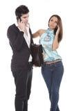 企业夫妇年轻人 免版税库存照片