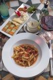Итальянская еда Стоковое Изображение