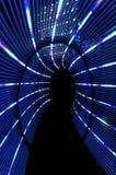 抽象轻的隧道 免版税库存照片
