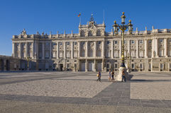 皇家马德里的宫殿 免版税库存图片