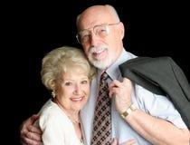夫妇爱恋的照片前辈股票 库存照片