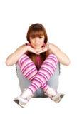 少年秀丽的女孩 免版税库存图片