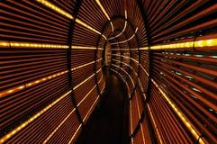 抽象轻的隧道 库存图片