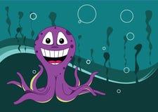 在水之下的章鱼 库存照片