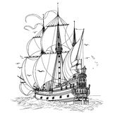 Πλέοντας βάρκα Στοκ εικόνα με δικαίωμα ελεύθερης χρήσης