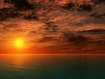 ωκεάνιο ηλιοβασίλεμα Στοκ φωτογραφίες με δικαίωμα ελεύθερης χρήσης
