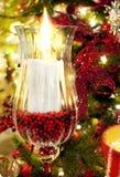 Χριστούγεννα κεριών Στοκ Εικόνα