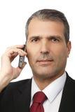 Επιχειρηματίας που καλεί το κινητό τηλέφωνο Στοκ Εικόνες