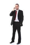 Επιχειρηματίας που καλεί το κινητό τηλέφωνο Στοκ φωτογραφία με δικαίωμα ελεύθερης χρήσης