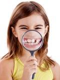 陈列长牙齿 库存图片