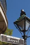 新奥尔良皇家符号街道 免版税库存图片