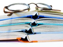 γυαλιά βιβλίων Στοκ Φωτογραφία