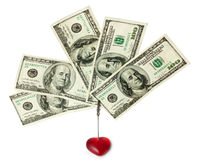 名片美元持有人 免版税库存图片