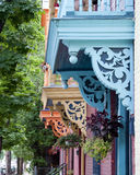 色的阳台 免版税库存照片
