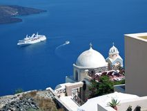 ελληνικά νησιά κρουαζιέρ&a Στοκ φωτογραφία με δικαίωμα ελεύθερης χρήσης