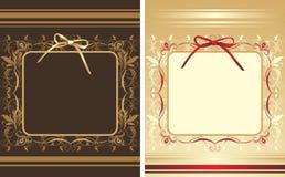 背景弓装饰框架 免版税库存图片