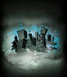 城市晚上海报 免版税库存照片
