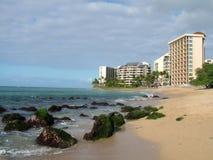 海滩前的手段 免版税库存照片