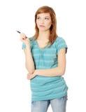 студент девушки предназначенный для подростков Стоковая Фотография