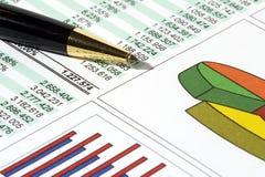 报告销售额 免版税库存图片