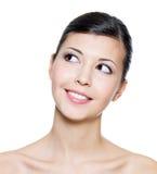 看起来成人的表面微笑妇女年轻人 库存图片