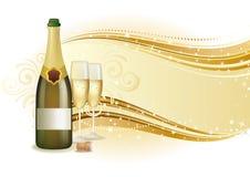 предпосылка празднует шампанское Стоковые Изображения RF
