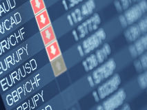 货币贸易 库存图片