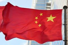 σημαία της Κίνας Στοκ Φωτογραφίες