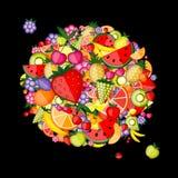 背景设计您能源的果子 免版税库存照片