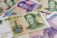 发单中国货币元 免版税图库摄影